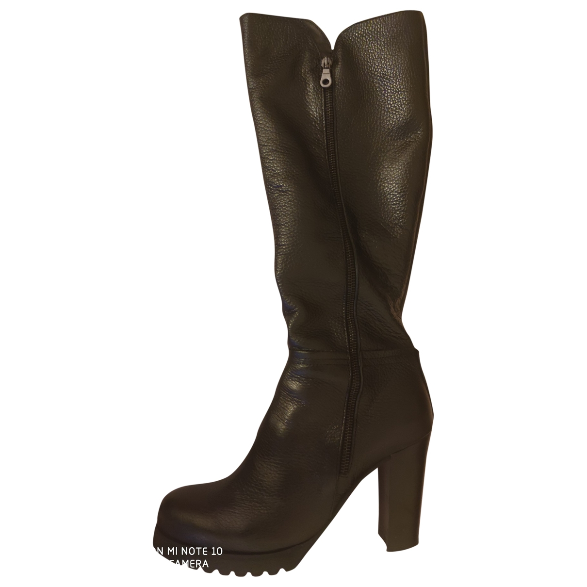 Non Signé / Unsigned \N Black Leather Boots for Women 40 EU