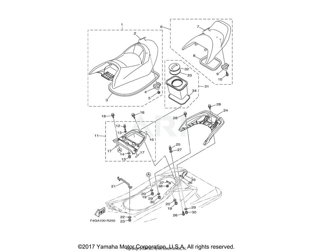 Yamaha OEM F1W-U2664-01-00 PACKING