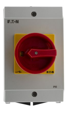 Eaton 3 Pole Enclosed Non Fused Isolator Switch - 32 A Maximum Current, 15 kW Power Rating, IP65