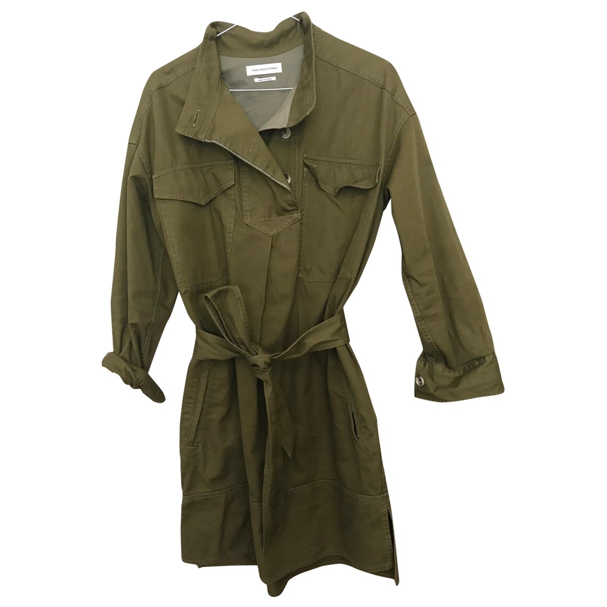 Isabel Marant Etoile \N Khaki Cotton dress for Women 38 FR