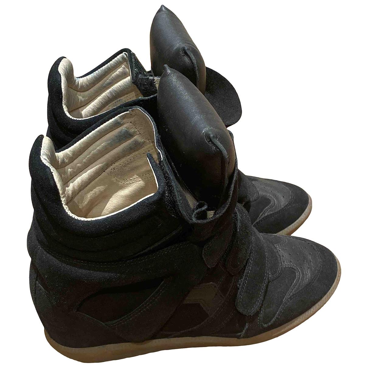 Isabel Marant - Baskets Beckett pour femme en cuir - noir