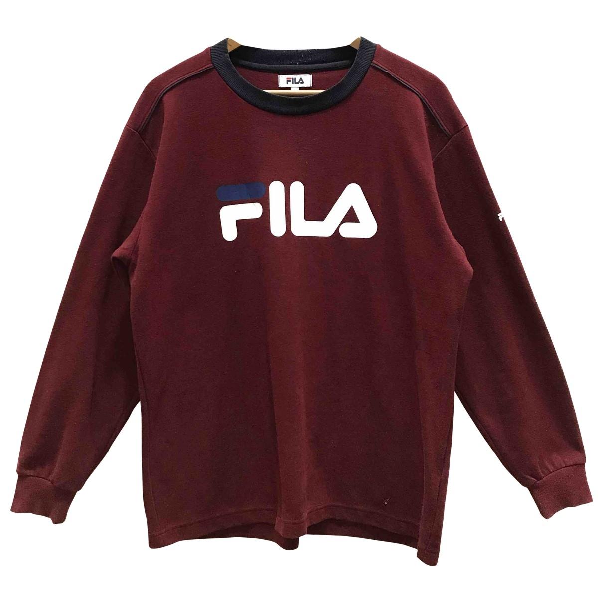 Fila \N Pullover.Westen.Sweatshirts  in  Rot Baumwolle