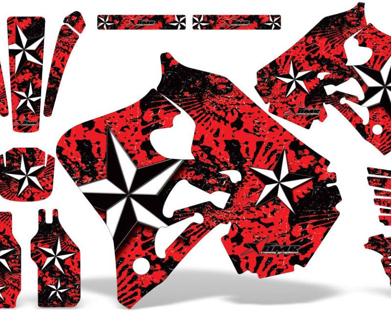 AMR Racing Dirt Bike Graphics Kit Decal Wrap For Honda CR125 1995-1997 | CR250 1995-1996 NORTHSTAR RED