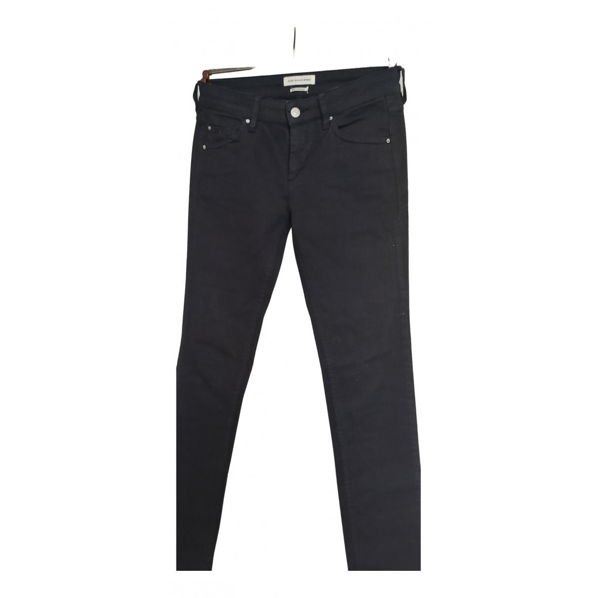 Isabel Marant Etoile \N Black Cotton Trousers for Women 36 FR