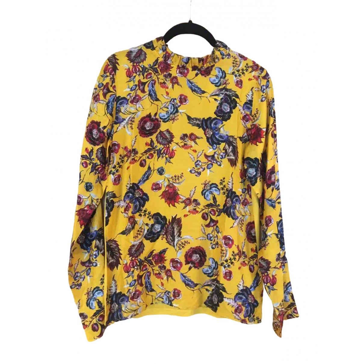- Top   pour femme en coton - jaune