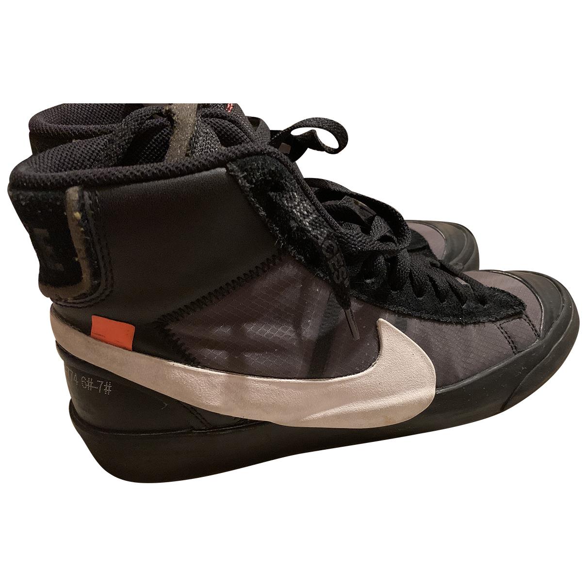 Nike X Off-white Blazer Mid Sneakers in  Schwarz Exotenleder