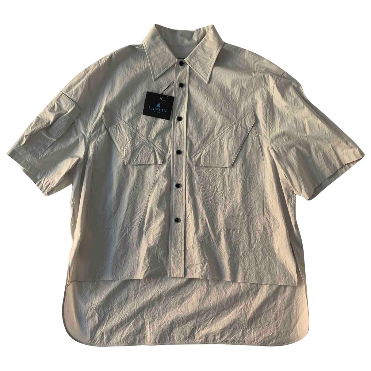 Lanvin \N Hemden in  Grau Baumwolle