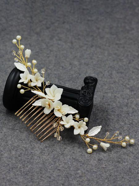 Milanoo Tocados de boda Headwear Accesorios para el cabello de metal para novia