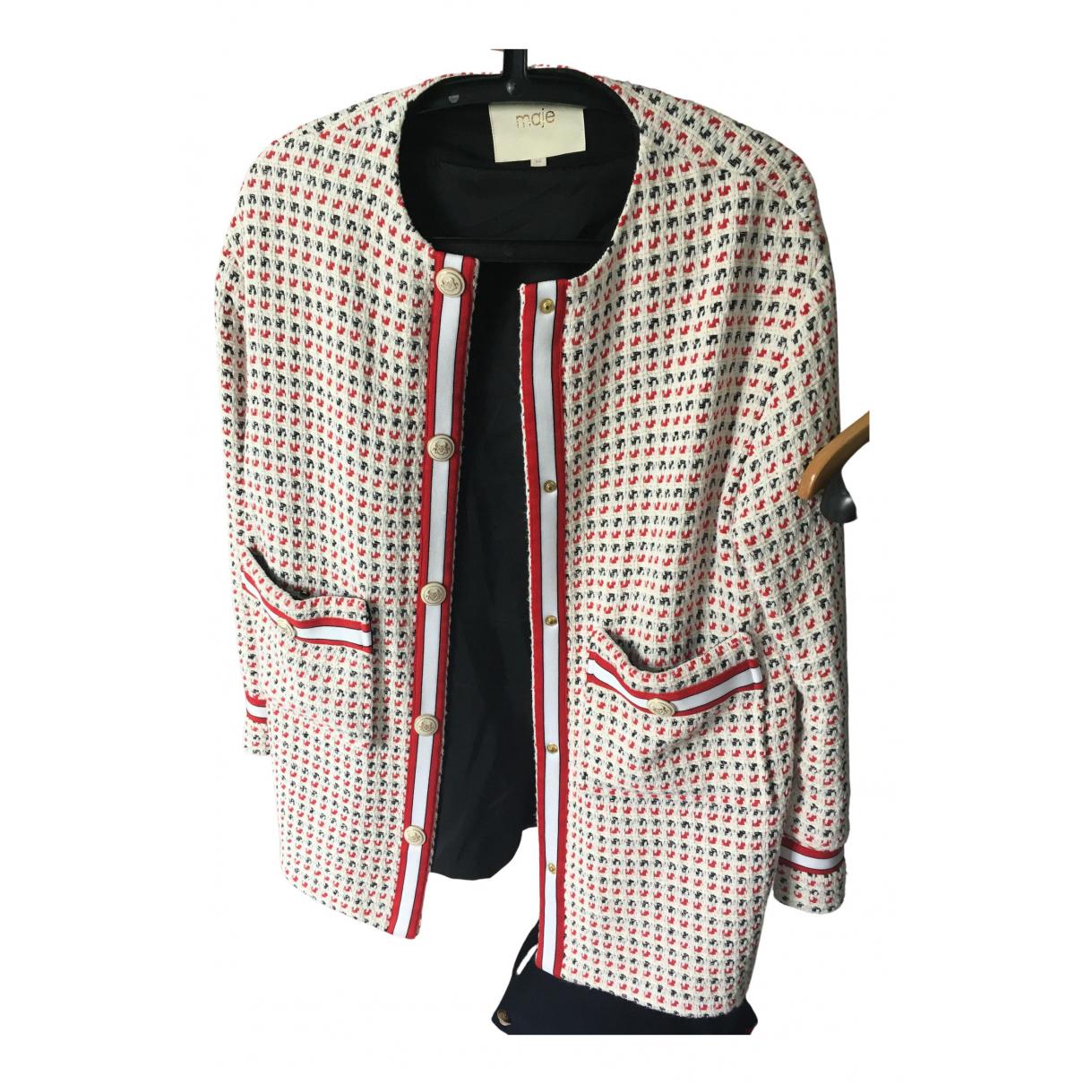 Maje - Manteau Spring Summer 2020 pour femme en coton - blanc