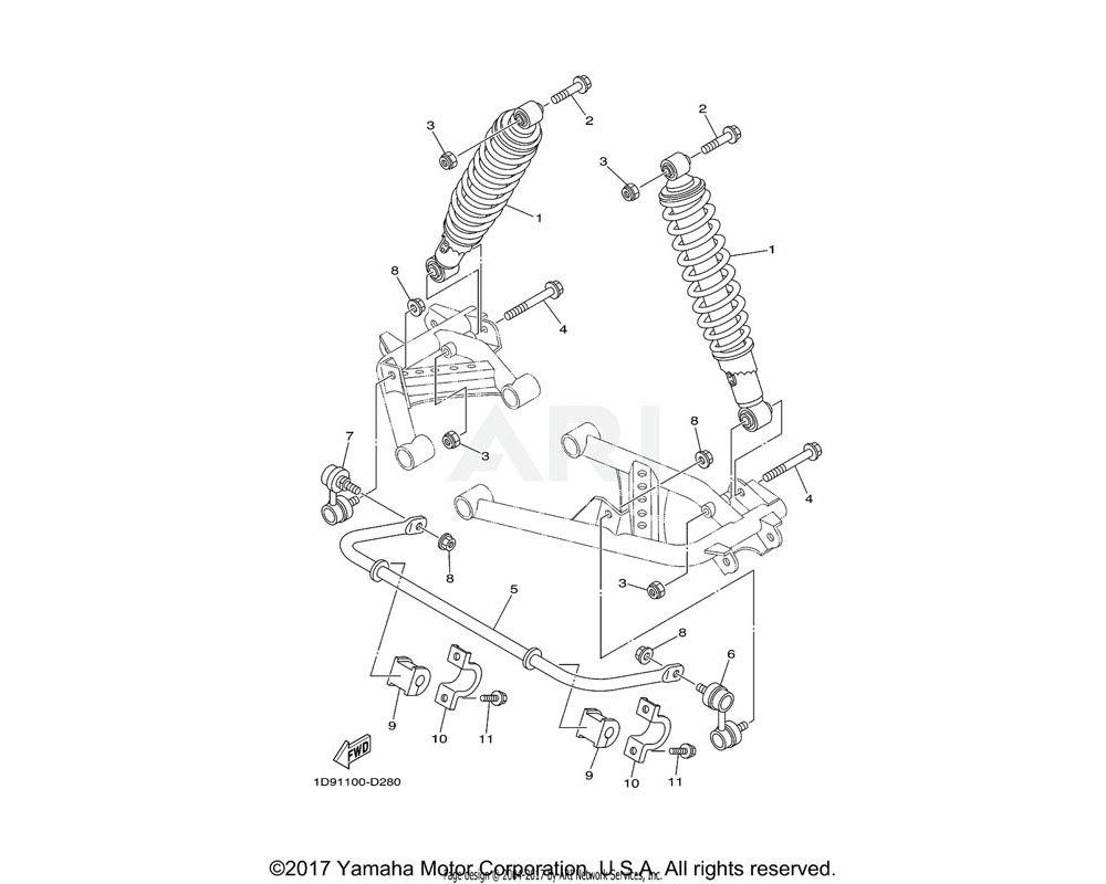 Yamaha OEM 90105-10202-00 BOLT, FLANGE