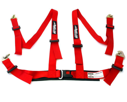 Buddy Club BC08-RSSH4-R Red Racing Spec 4 Point Seat Harness