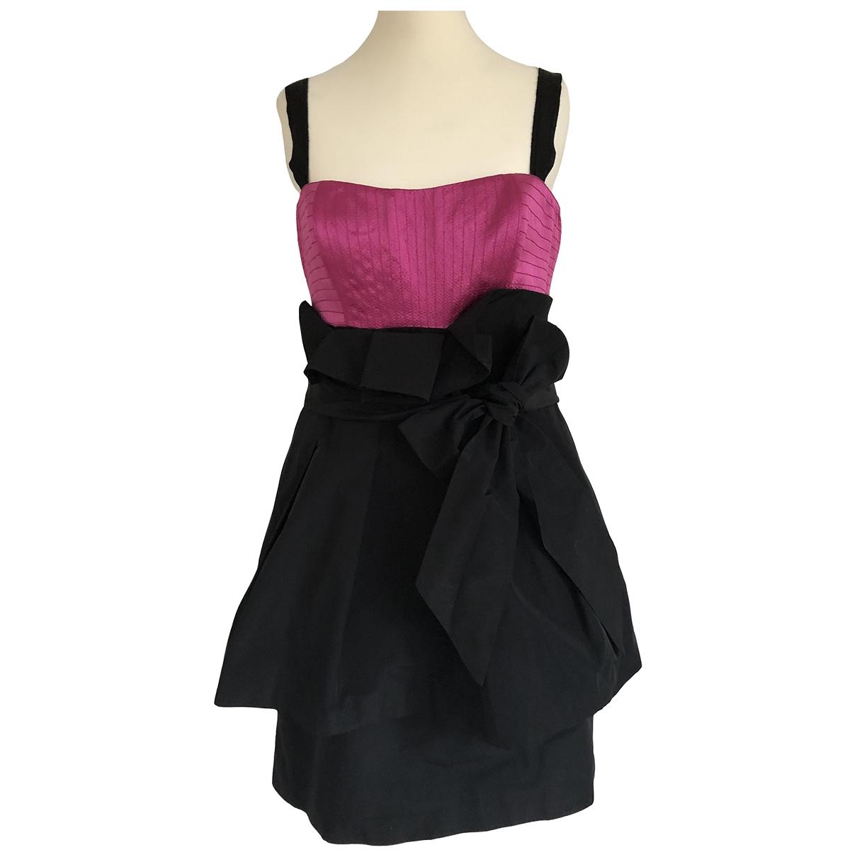 Bcbg Max Azria \N Kleid in  Schwarz Polyester