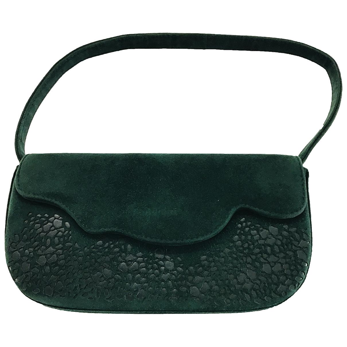Baldinini \N Handtasche in  Gruen Leder