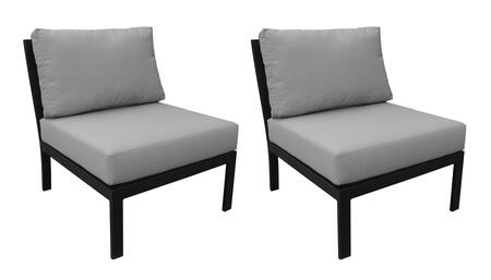 KI062B-AS-DB-GREY Madison Ave. Armless Chair (2 Per Box) with 1 Set of Snow and 1 Set of Slate