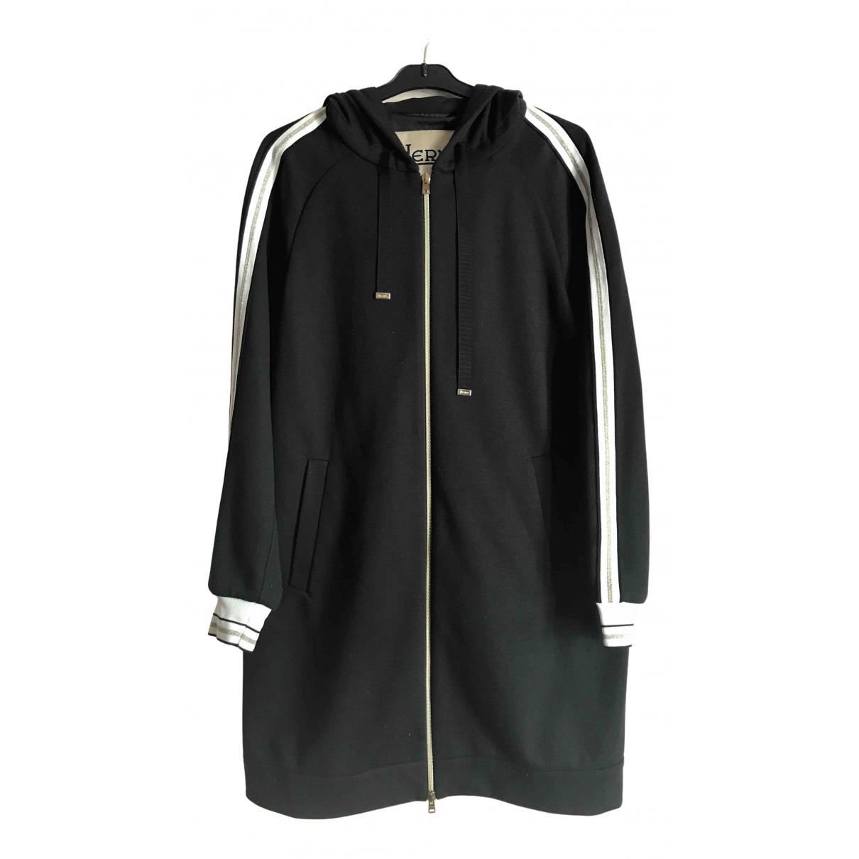 Herno N Black coat for Women 44 IT