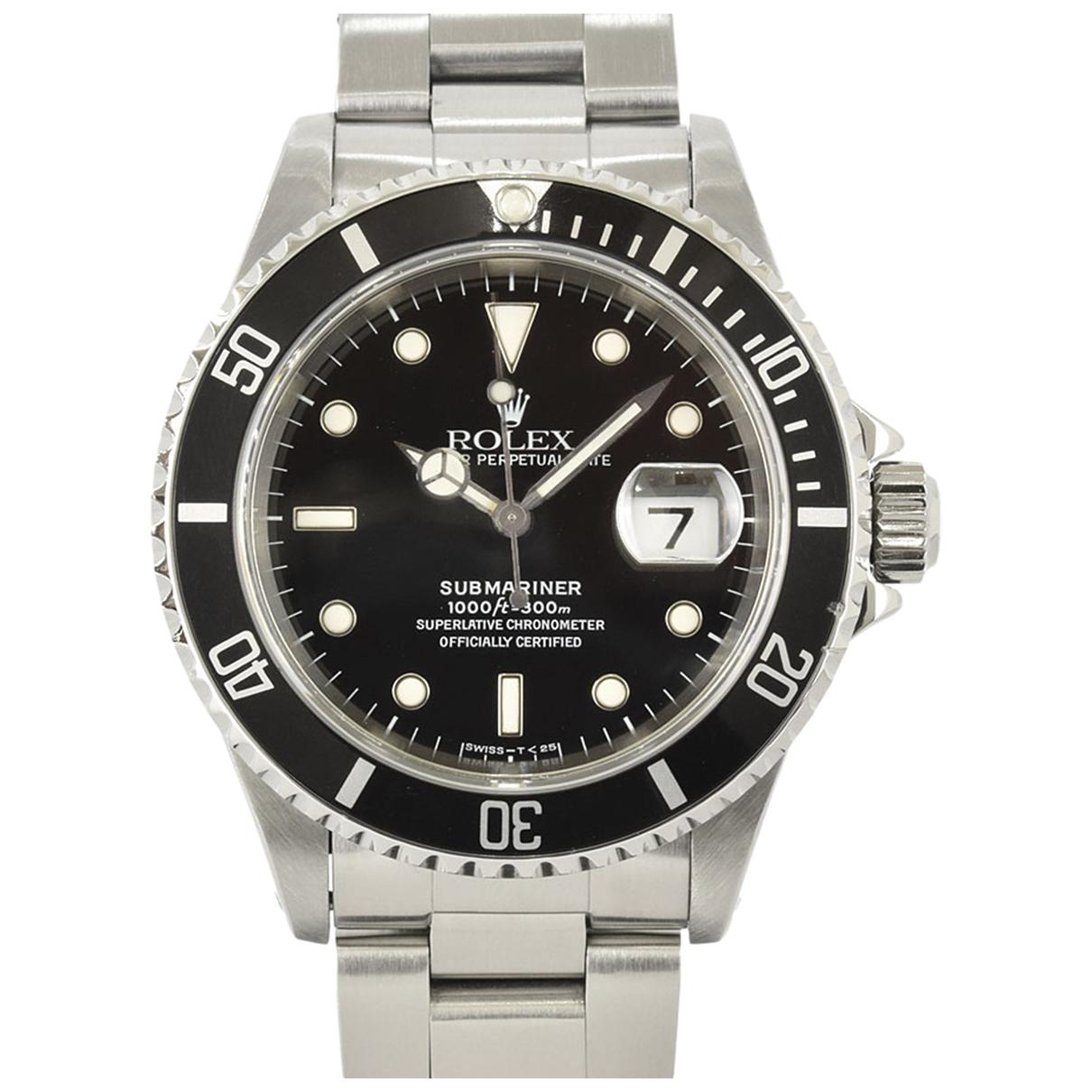 Rolex - Montre Submariner pour homme en acier - noir