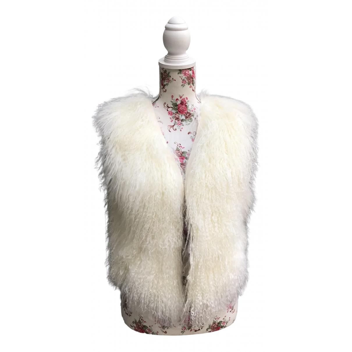 K-yen N White Mongolian Lamb jacket for Women S International