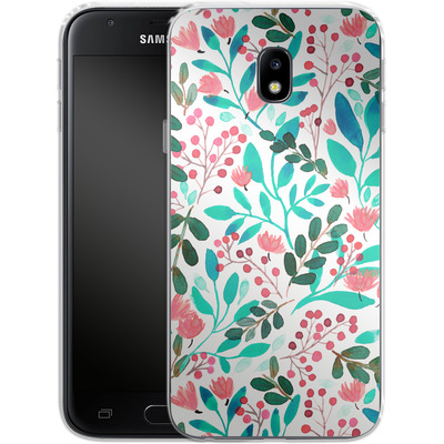 Samsung Galaxy J3 (2017) Silikon Handyhuelle - Bright Foliage von Iisa Monttinen