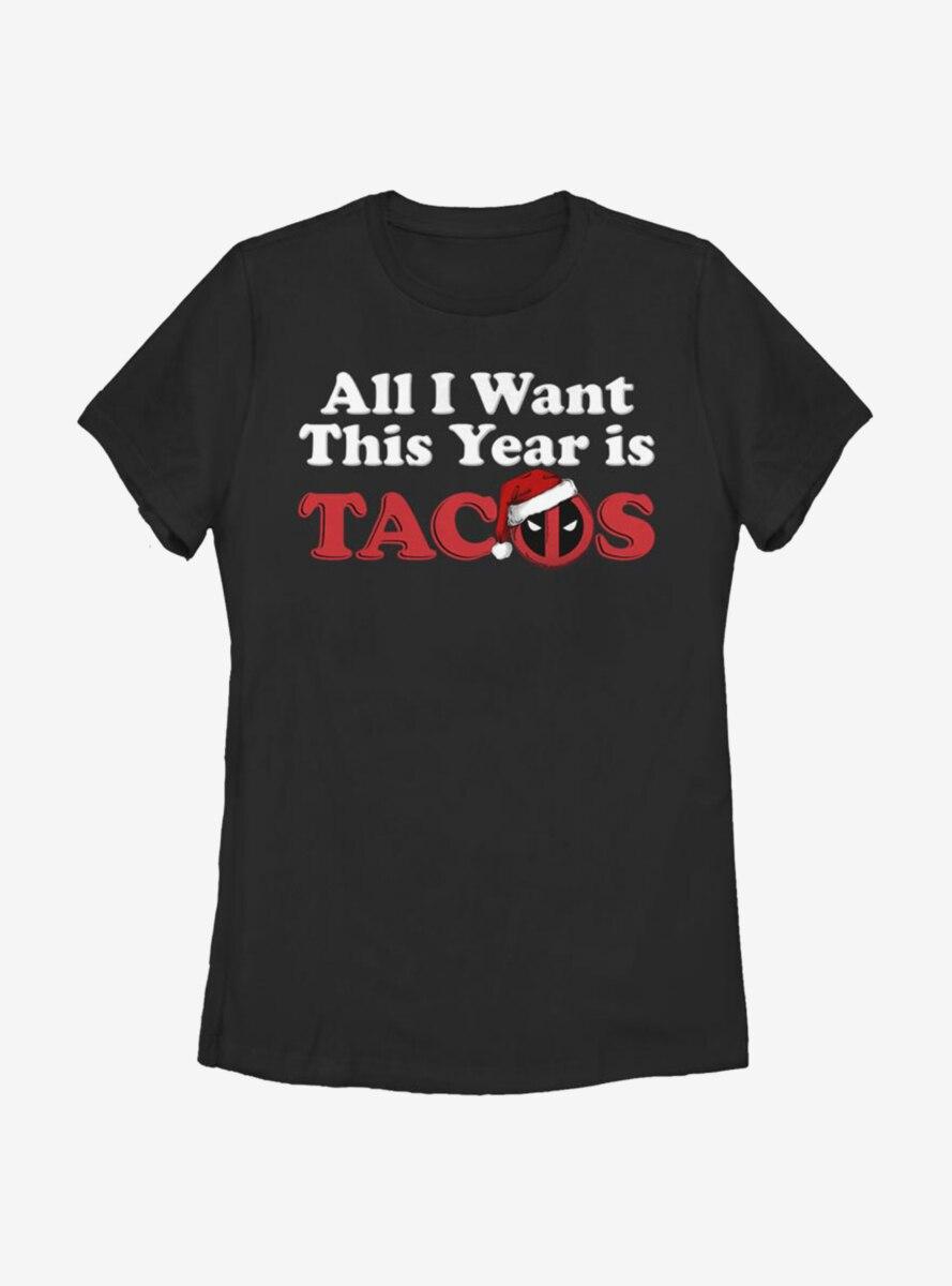 Marvel Deadpool All I Want Tacos Womens T-Shirt