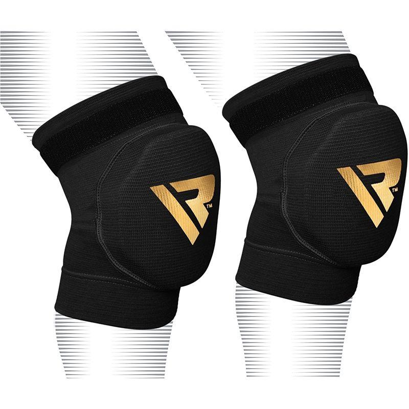 RDX Boxe Pro Sport Genouillere MMA Protection Moyenne  Noir Bonneterie