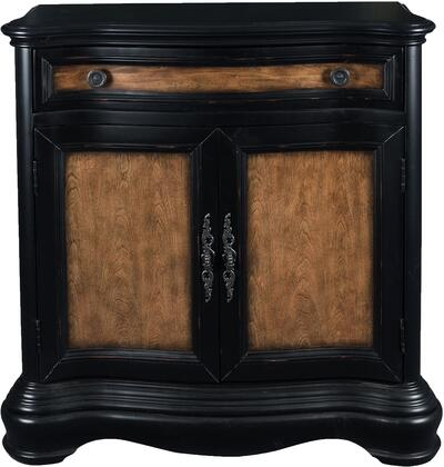 Clarendon DS-P050200 Hall Chest with One Drawer  One Adjustable Shelf Behind and Burnished Brass Finished Hardware in Two