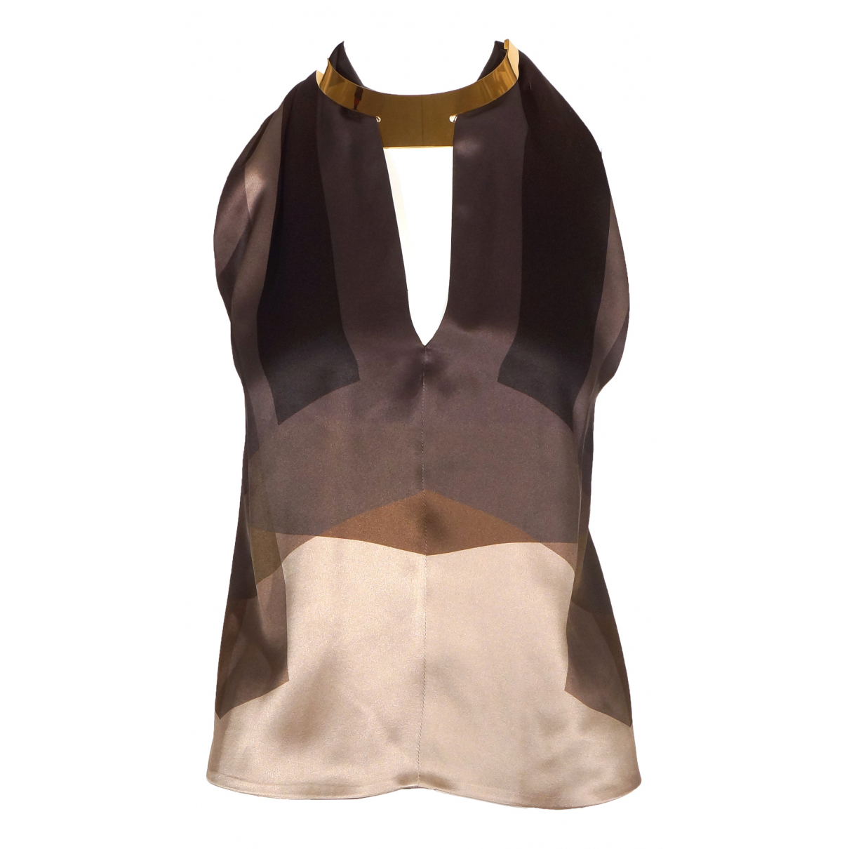 Gucci \N Brown Silk  top for Women 40 IT