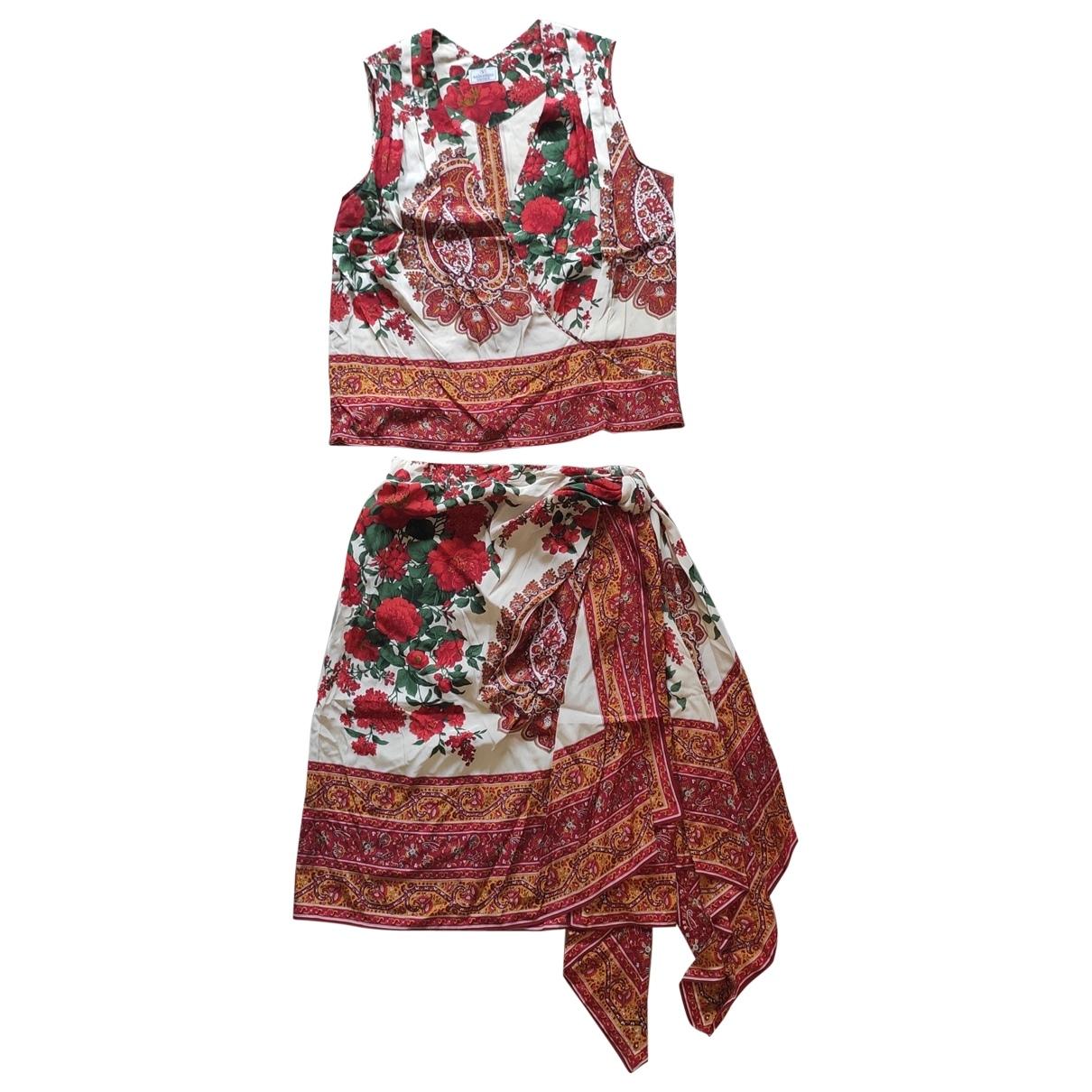 Valentino Garavani \N Red Silk jumpsuit for Women 10 UK