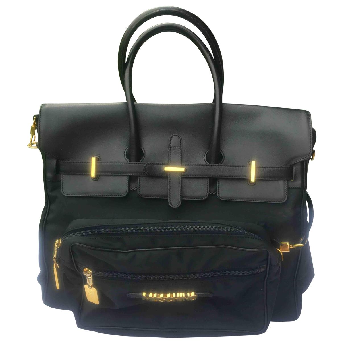 Moschino \N Handtasche in  Schwarz Leinen