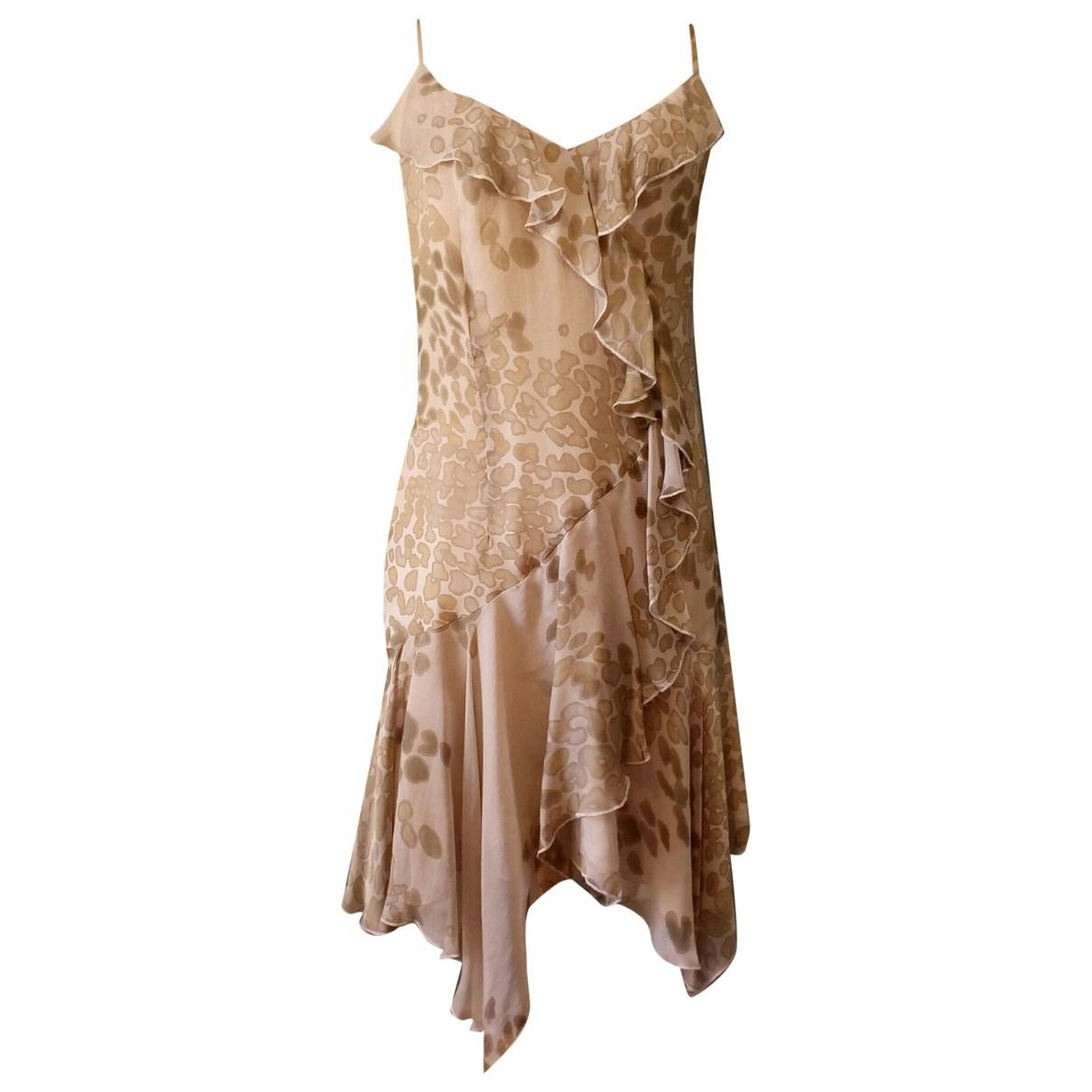 Georges Rech - Robe   pour femme en soie - beige
