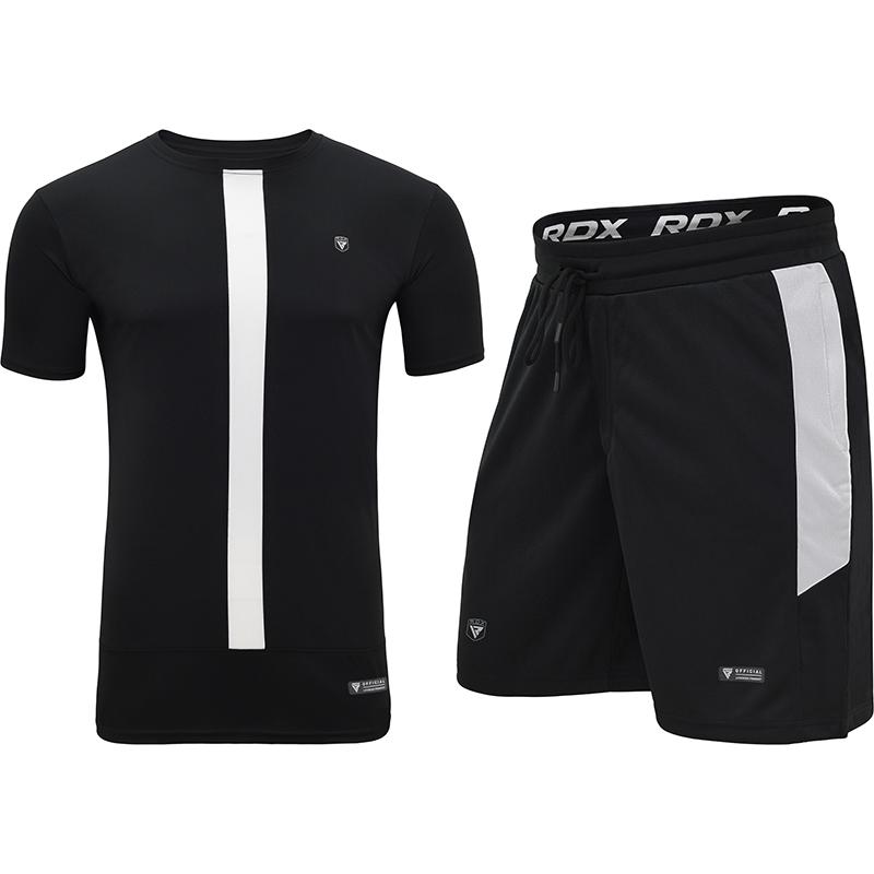 RDX T15 Nero Black Ensemble T-shirt et Short L Blanc noir Polyester