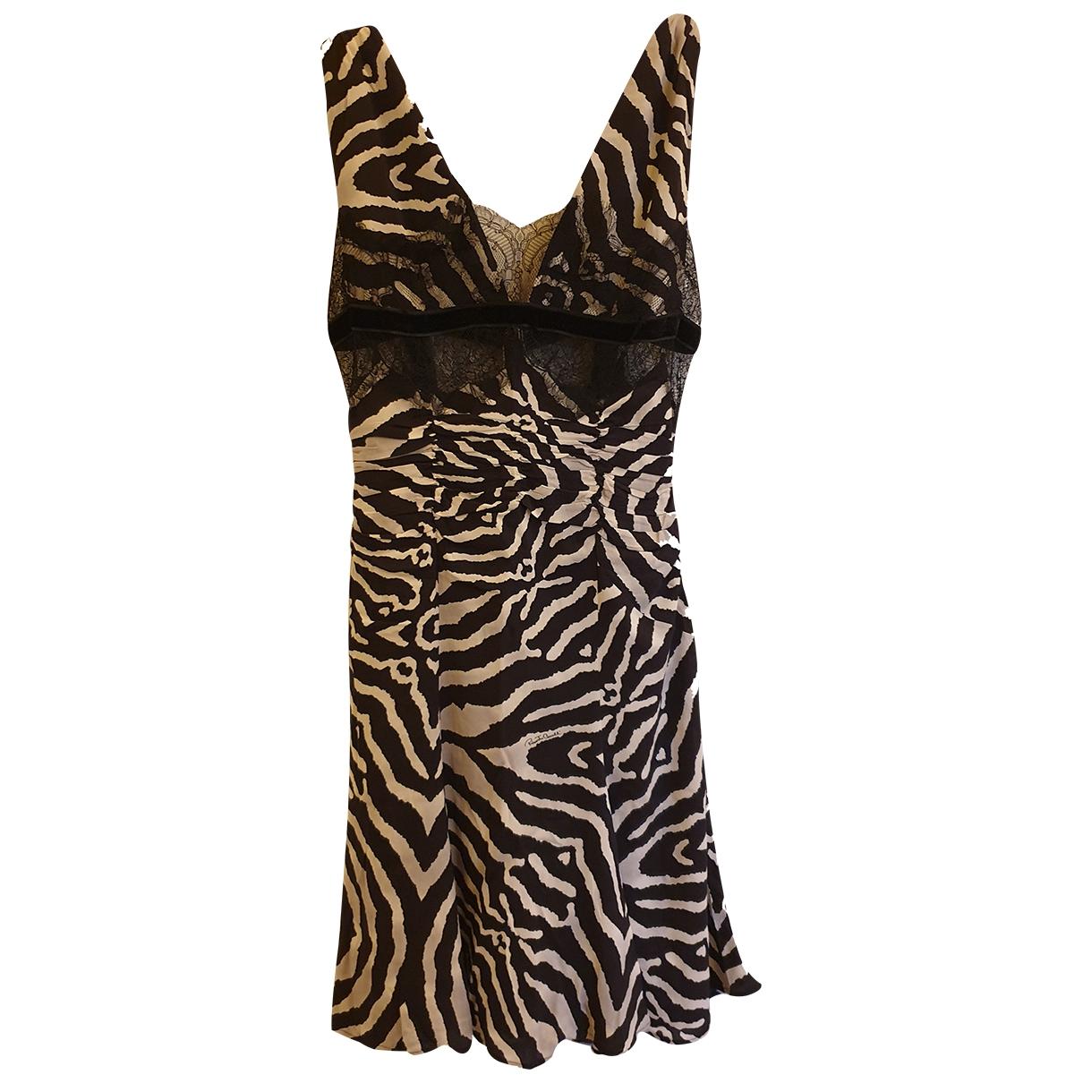 Roberto Cavalli \N Black Silk dress for Women 44 IT