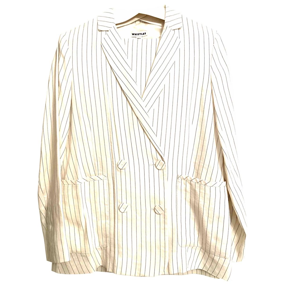 Whistles \N Ecru Linen jacket for Women 12 UK