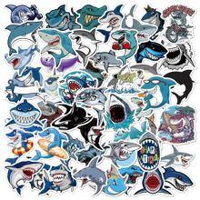 50sheets Cartoon Shark Random Sticker