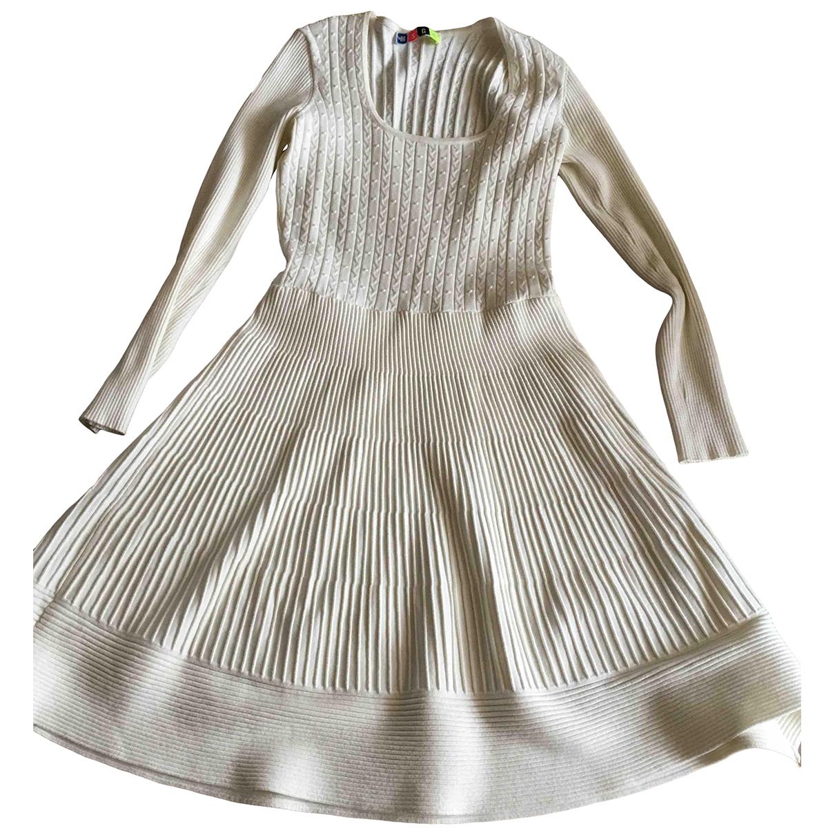 Msgm \N Ecru dress for Women 40 FR