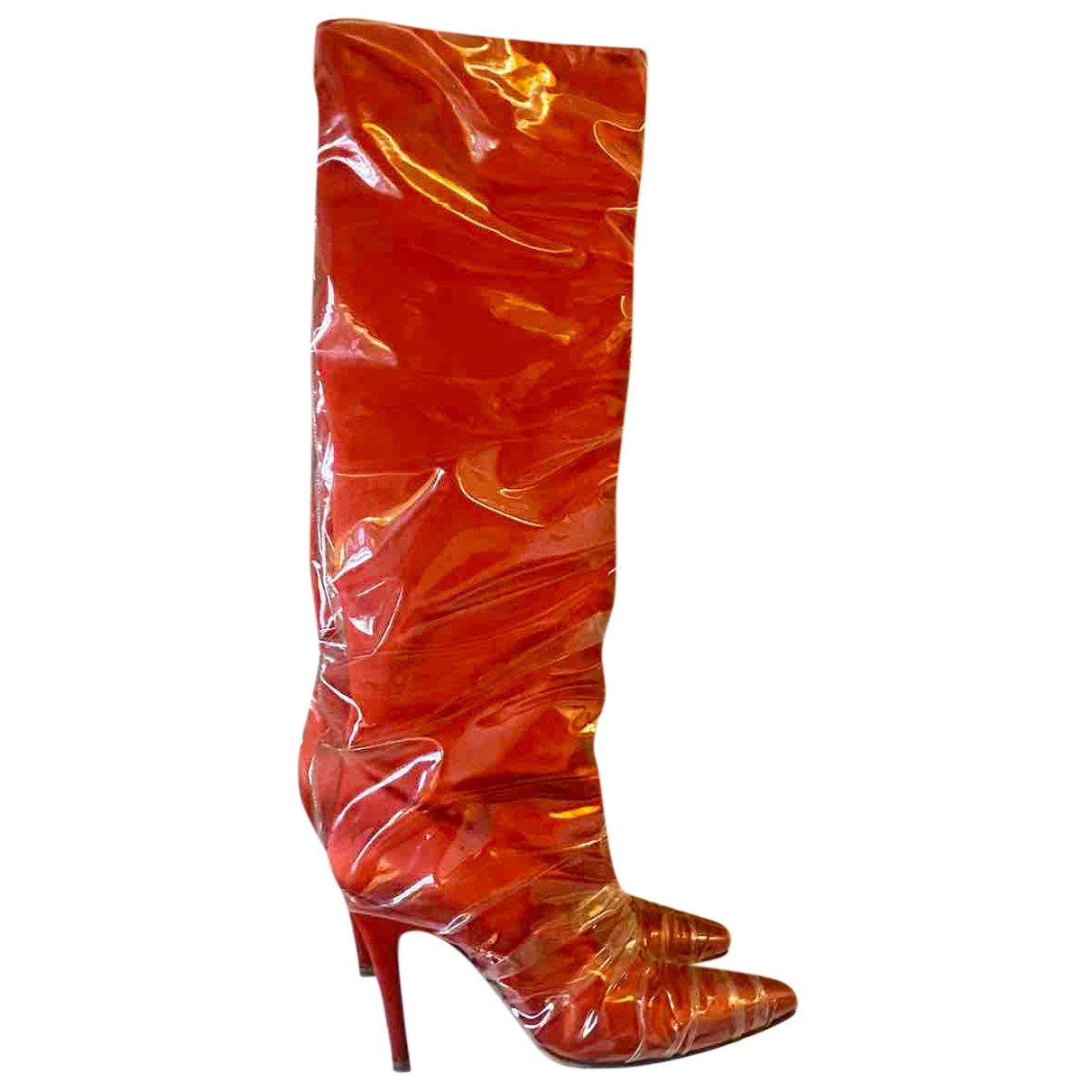 Off-white \N Stiefel in  Rot Kunststoff