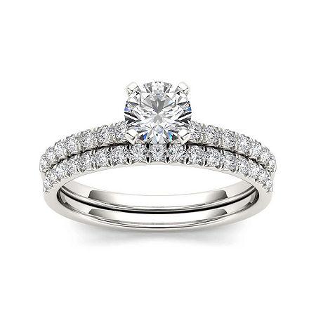 1 CT. T.W. Diamond 14K White Gold Bridal Set, 7 , No Color Family