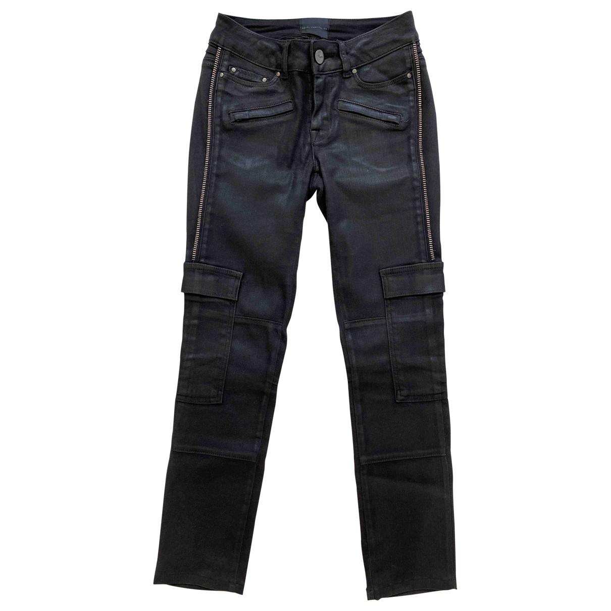 Hôtel Particulier \N Black Cotton - elasthane Jeans for Women 25 US