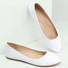 Almond Toe Slip On Classic Ballerina Flats