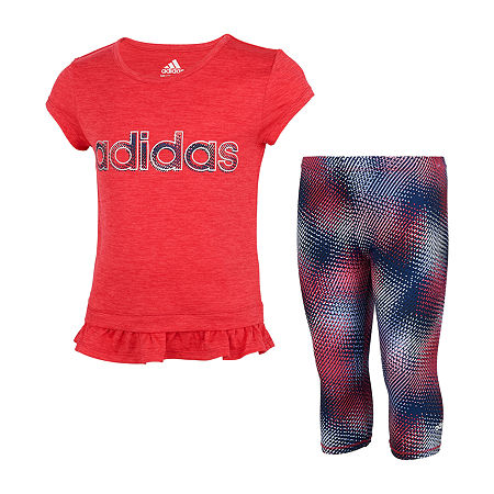 adidas Little Girls 2-pc. Track Suit, 4 , Pink