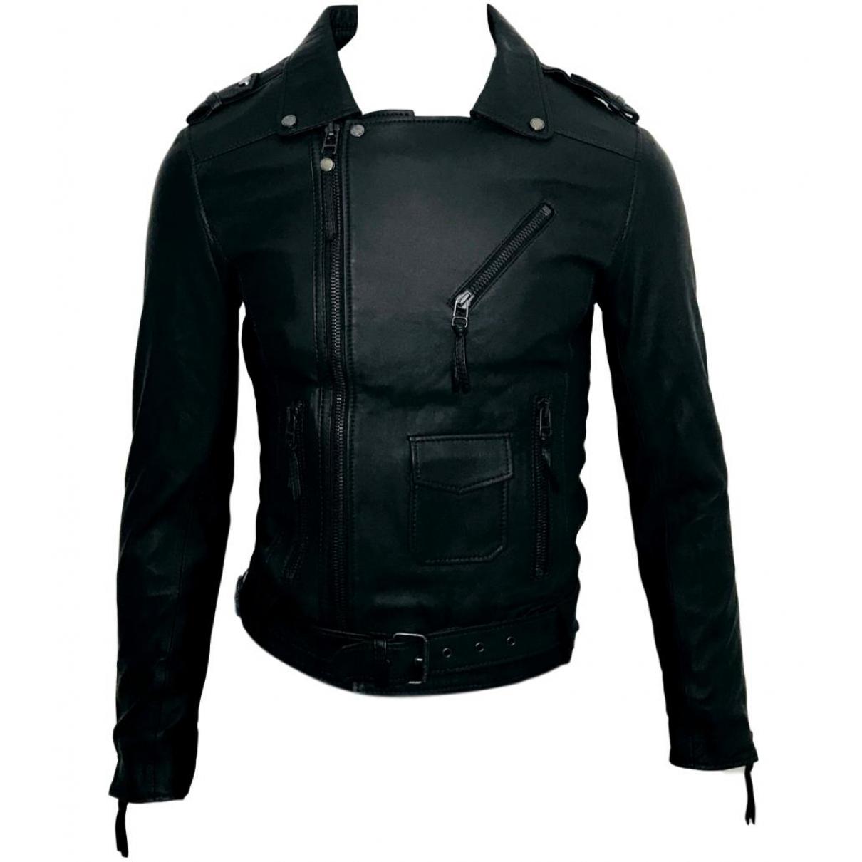 Bodaskins \N Black Leather jacket  for Men XS International