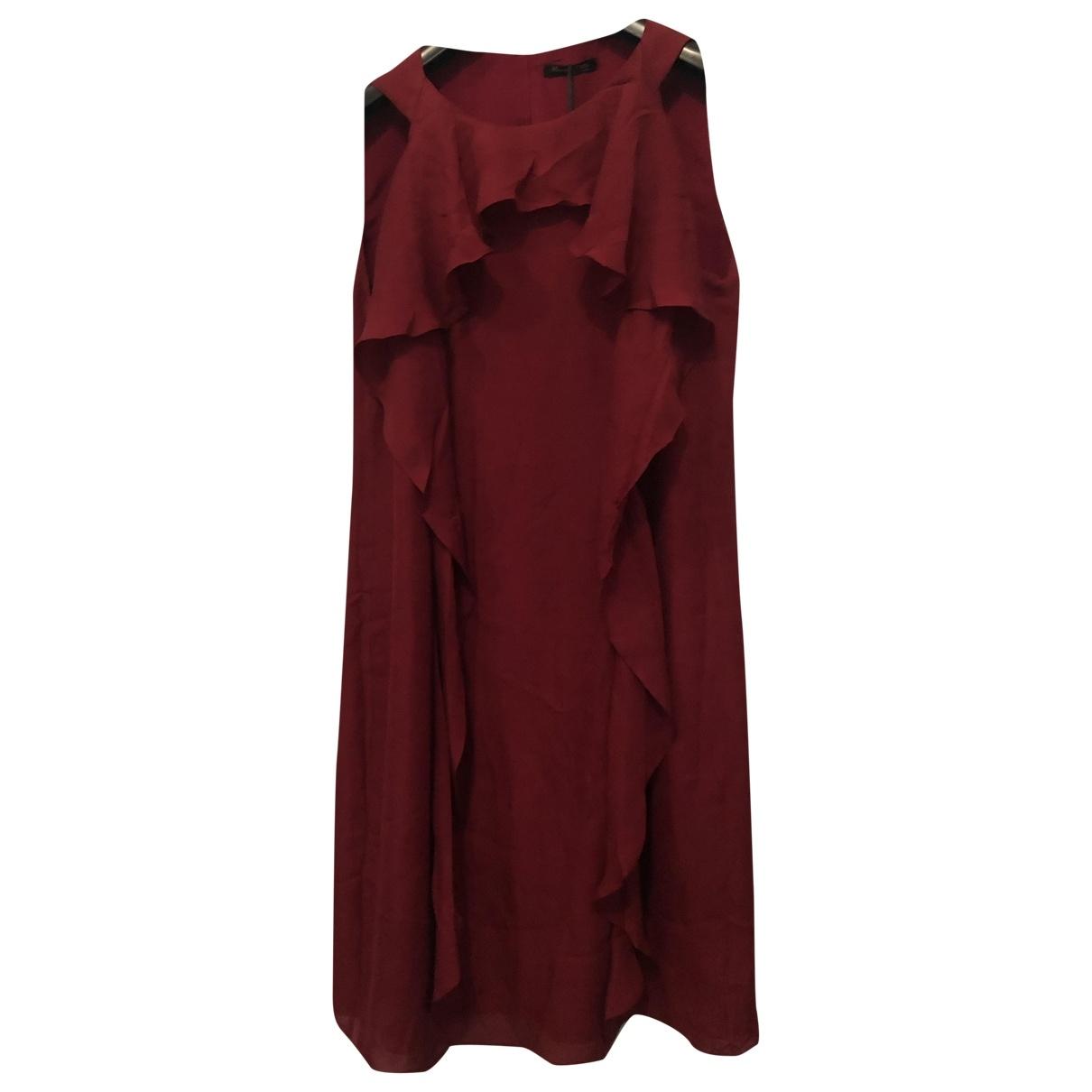 Massimo Dutti \N Burgundy Silk dress for Women 38 IT