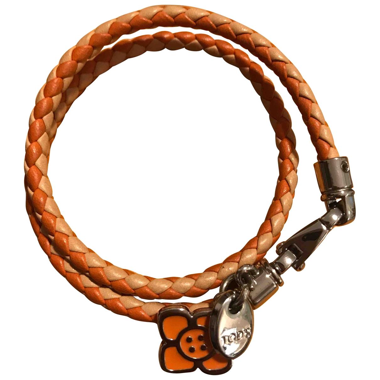 Tod's \N Orange Leather bracelet for Women \N