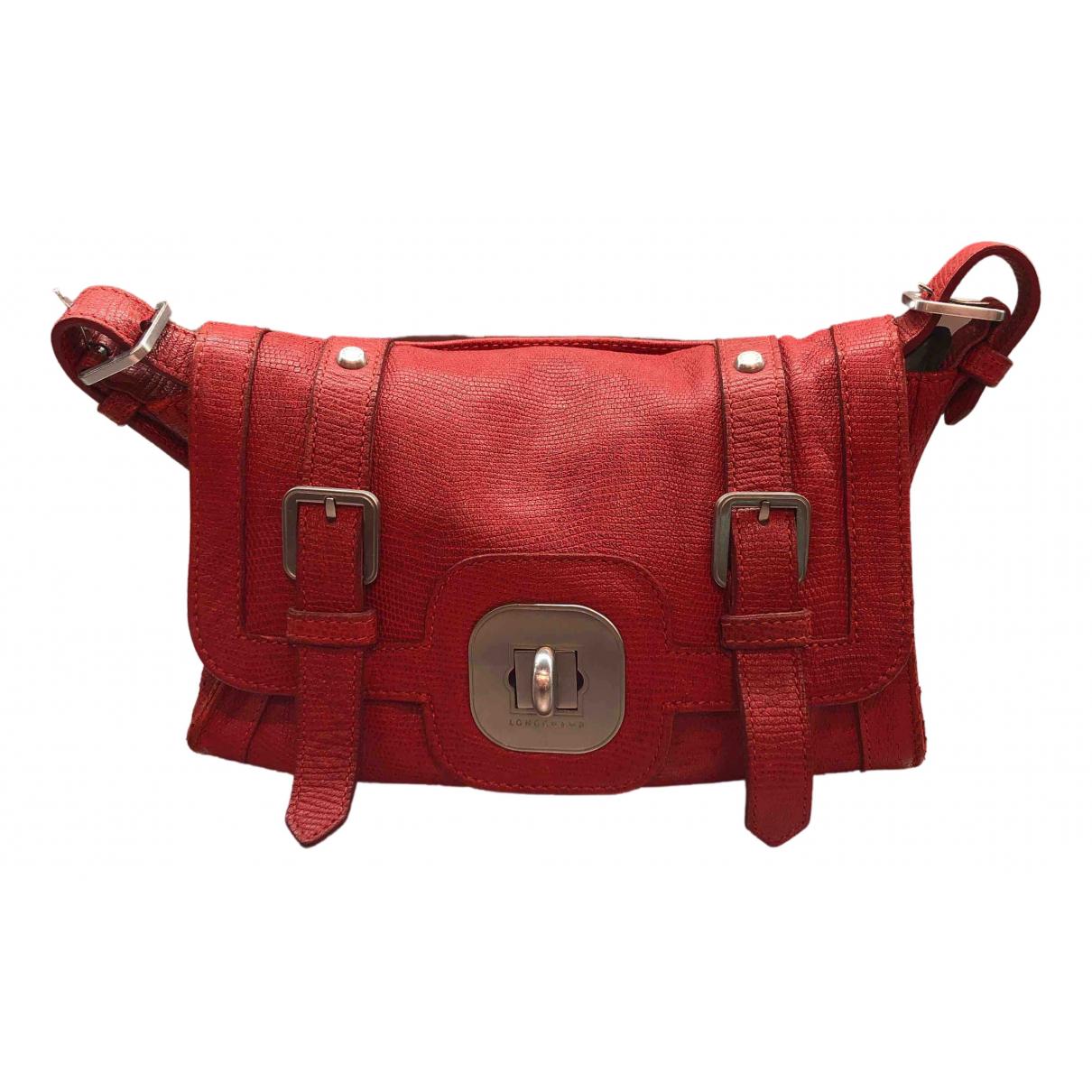 Longchamp \N Clutch in  Rot Leder