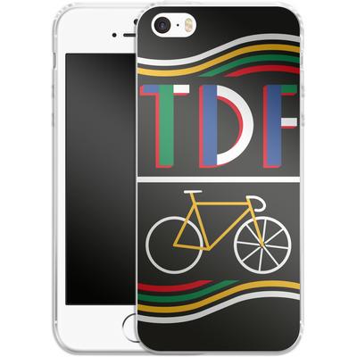 Apple iPhone SE Silikon Handyhuelle - TDF Bike von Le Tour de France