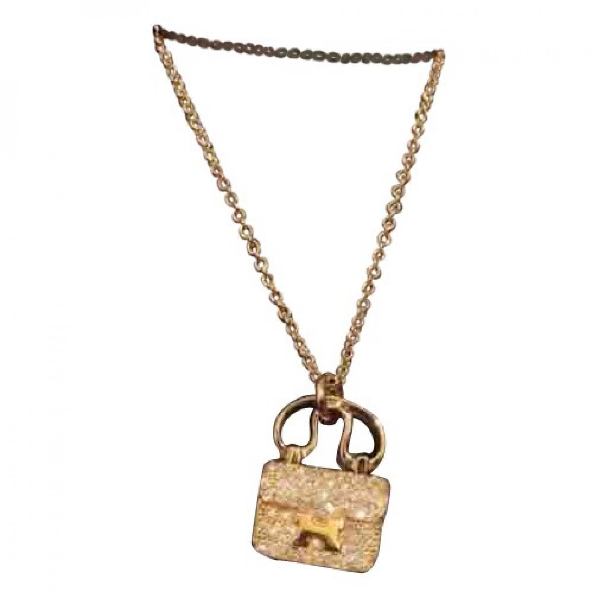 Hermes - Collier Amulette pour femme en or rose - dore