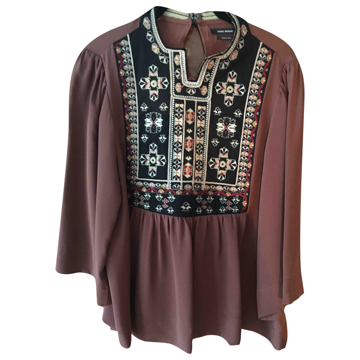 Isabel Marant \N Brown Silk  top for Women 36 FR