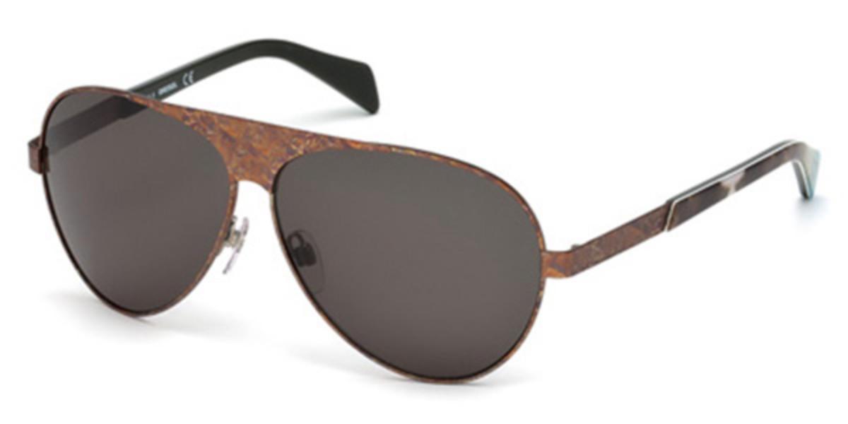 Diesel DL0119 09A Men's Sunglasses Brown Size 62
