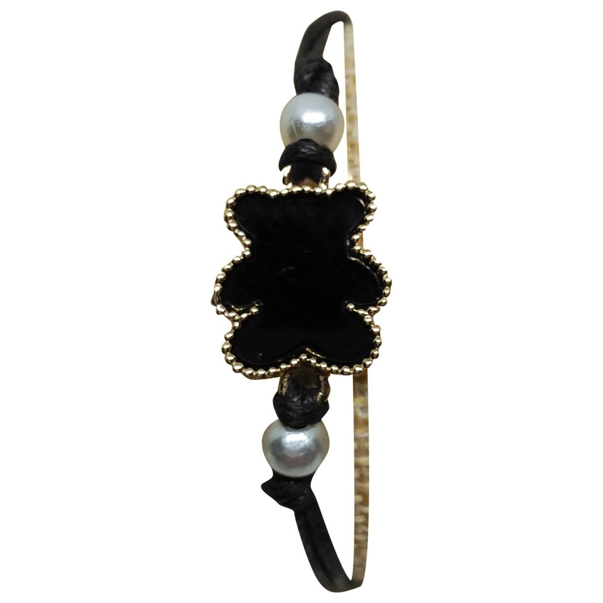 Non Signé / Unsigned \N Black Metal bracelet for Women \N