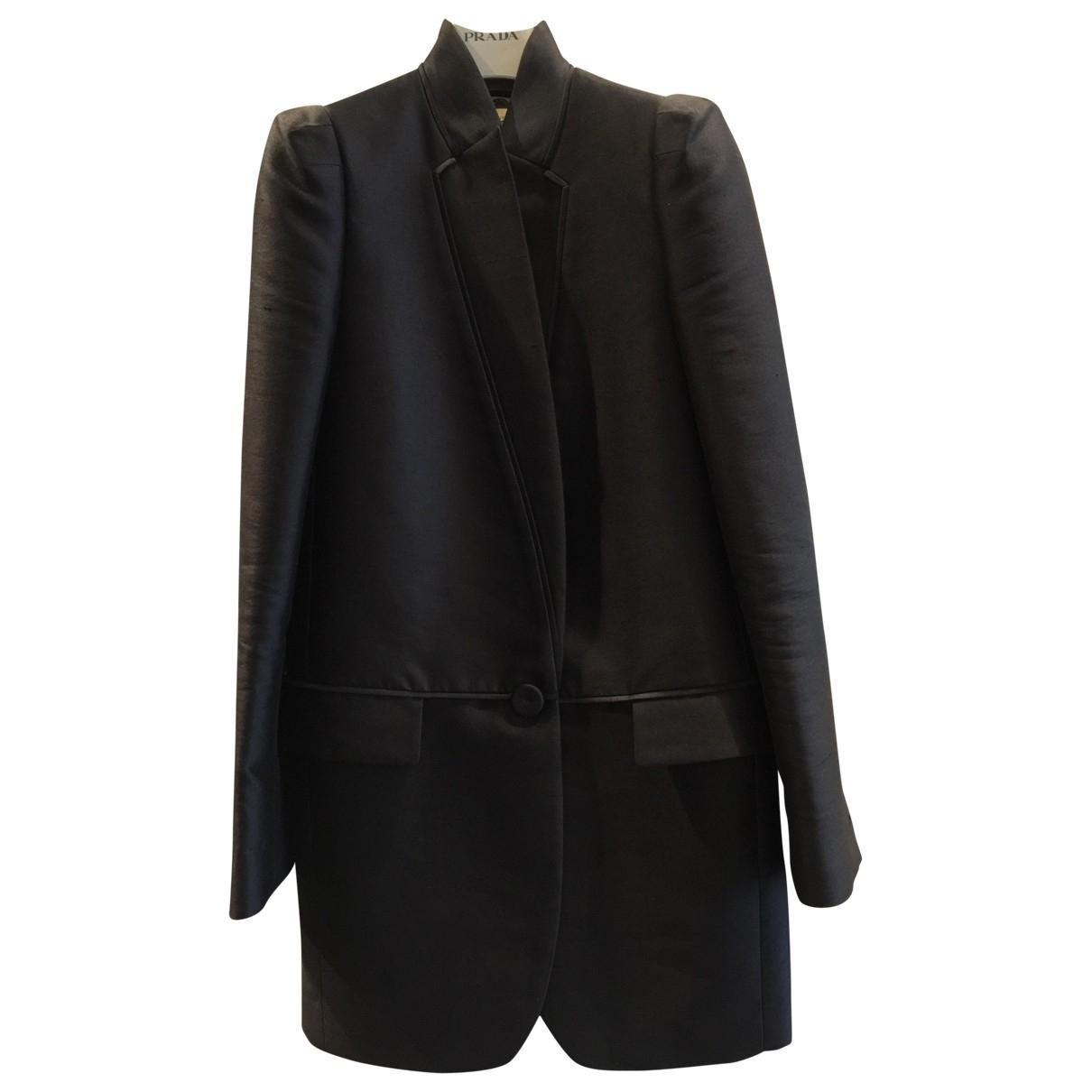 Stella Mccartney - Manteau   pour femme en soie - noir