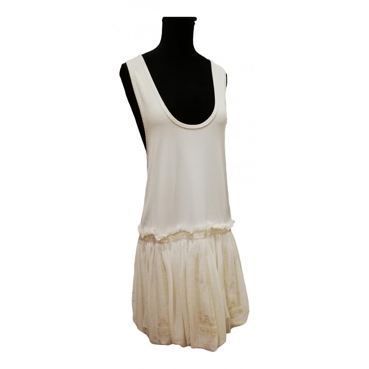 Stella Mccartney Pour Adidas \N Kleid in  Beige Baumwolle - Elasthan